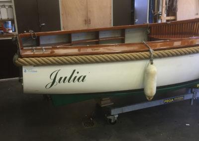 Ombouw sloep Julia